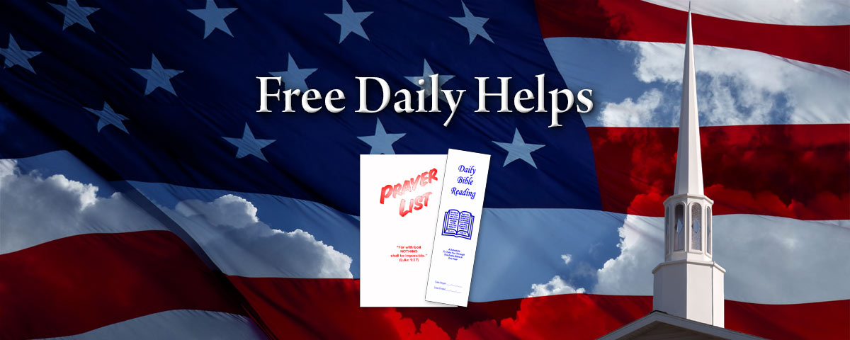 Free Daily Helps- Bible Reading Schedule, Prayer List, Bible Questions